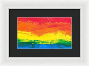 Abstract Sunset - Framed Print