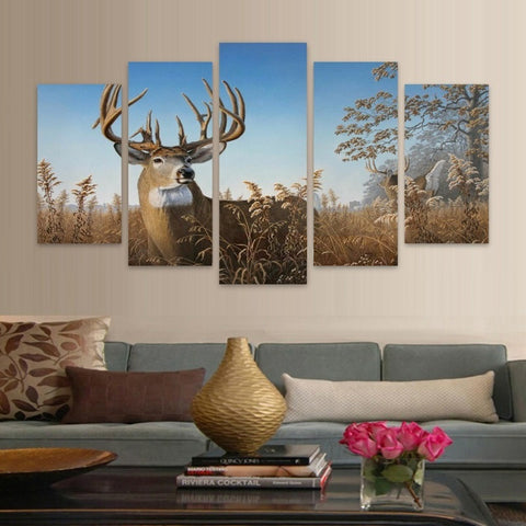 Whitetail Deer Bucks  5 piece HD Wall Print - Limited Edition