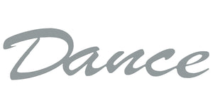 Dance word - hammered silver - #7055inc