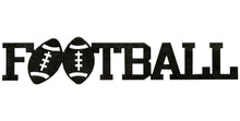 Football word - hammered black - #7055inc