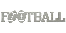Football word - hammered silver - #7055inc