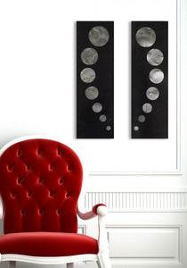 """Glow Worms"" metal wall art"