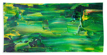 Green Abstract - Beach Towel