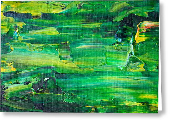 Green Abstract - Greeting Card