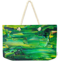 Green Abstract - Weekender Tote Bag