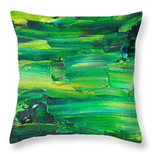 Green Abstract - Throw Pillow