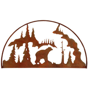 Bear Hoop - natural rust patina - metal art - #7055inc
