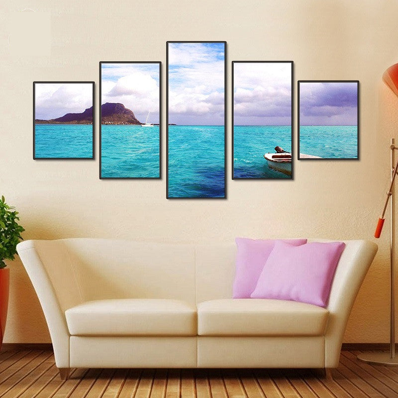 Calm Waters 5 piece HQ Canvas Wall Art Print - Limited Edition
