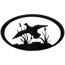 Duck Oval - hammered black - metal art - #7055inc