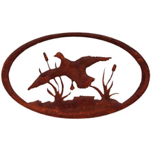 Duck Oval - natural rust patina - metal art - #7055inc