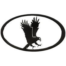 Eagle Oval - hammered black - metal art - #7055inc