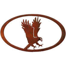 Eagle Oval - natural rust patina - metal art - #7055inc