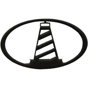 Lighthouse Oval - hammered black - metal art - #7055inc
