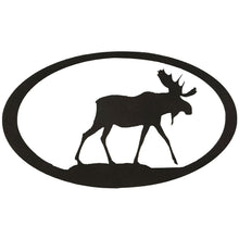Moose Oval - hammered black - metal art - #7055inc