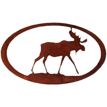 Moose Oval - natural rust patina - metal art - #7055inc
