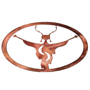 Shaman Oval - polished copper - metal decor - #7055inc