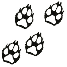 Wolf Paw Prints - hammered black - metal decor - #7055inc