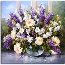 Flower Bouquet Paint by Numbers Adult Canvas Wall Art Painting Kit