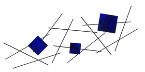 Pickup Stix - metal wall sculpture - candy blue - #7055inc
