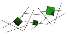 Pickup Stix - metal wall sculpture - candy green - #7055inc