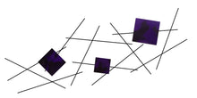 Pickup Stix - metal wall sculpture - candy purple - #7055inc