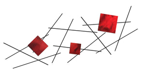 Pickup Stix - metal wall sculpture - candy red - #7055inc