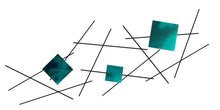 Pickup Stix - metal wall sculpture - candy teal - #7055inc