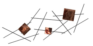 Pickup Stix - metal wall decor - distressed copper - #7055inc