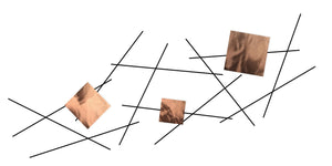 Pickup Stix - metal wall decor - polished copper - #7055inc