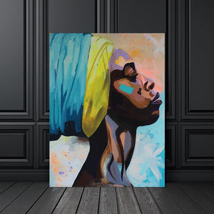 Abstract Woman Portrait Canvas Print