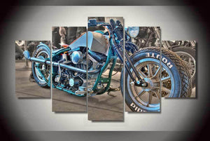 Motorcycle 5 piece HD Wall Print - Limited Edition