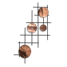 Satellite - Circles - metal wall decor - polished copper - #7055inc