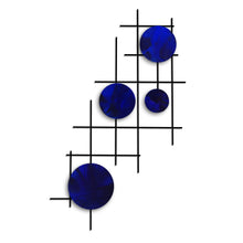 Satillite - circles - metal wall decor - candy blue - #7055inc