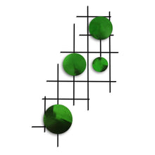 Satellite- circles - metal wall decor - candy green - #7055inc
