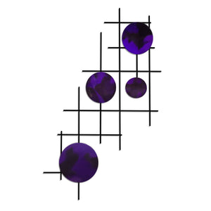Satellite - circles - metal wall art - candy purple - #7055inc