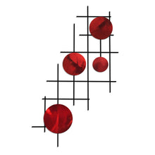 Satellite - circles - metal wall art - candy red - #7055inc