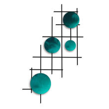 Satellite - circles - metal wall art - candy teal - #7055inc