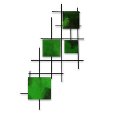 Satellite - squares - metal wall decor - candy green - #7055inc