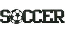 Soccer word - hammered black - #7055 inc