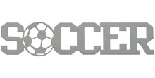 Soccer word - hammered silver - #7055 inc