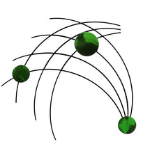 Sprigs - metal wall sculpture - candy green - #7055inc