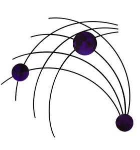 Sprigs - metal wall sculpture - candy purple - #7055inc