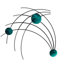 Sprigs - metal wall decor - candy teal - #7055inc