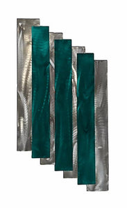 Stairs - metal wall sculpture- candy teal - #7055inc