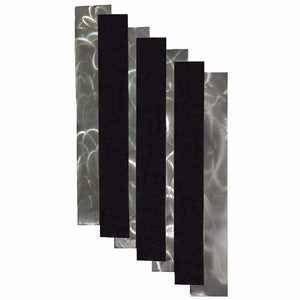 Stairs - metal wall sculpture - metallic black  - #7055inc