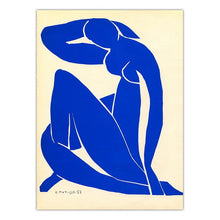 French Henri Matisse Blue Nude Women Canvas Print
