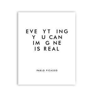 Everything you can image is real Picasso Art Paintings Canvas Print
