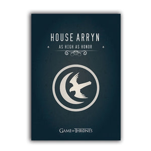Game of Thrones Banner Canvas Print