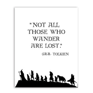 The Lord of the Rings Quote Wall Art Canvas Print