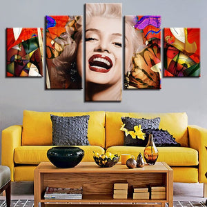 Marilyn Monroe Canvas Print 5 Pieces